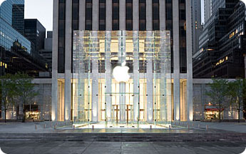 Apple store entrance.