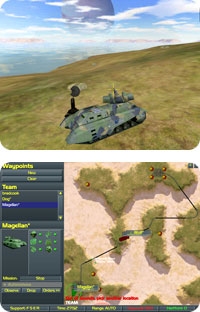 Vehicle and battle map.