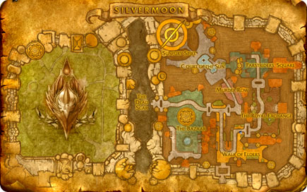 Map of Silvermoon.