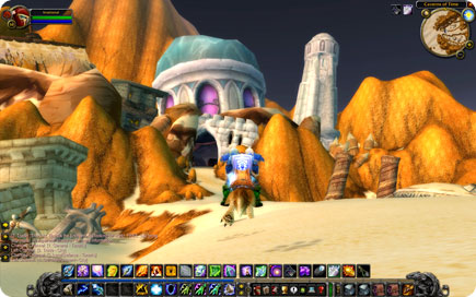 Draenei in a rocky desert region.