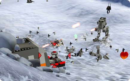 Large battle on Hoth.