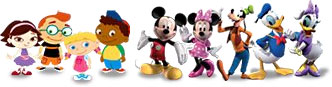 Playhouse Disney Preschool Time Online characters.