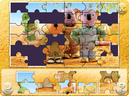 The Koala brothers on a puzzle.