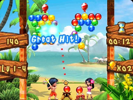 Bubble Bash gameplay area.