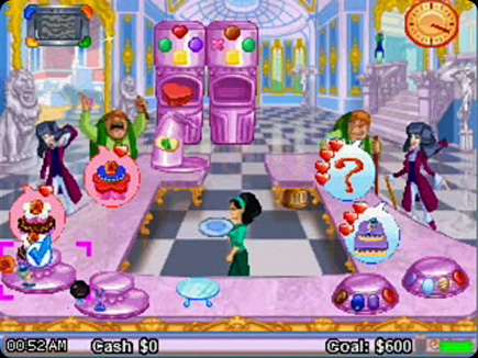 Cake Mania 3 gameplay area.
