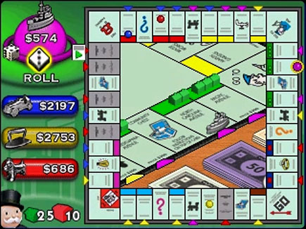 Monopoly gameplay area.