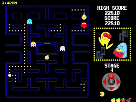PAC-MAN gameplay area.