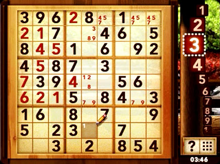 Sudoku gameplay area.