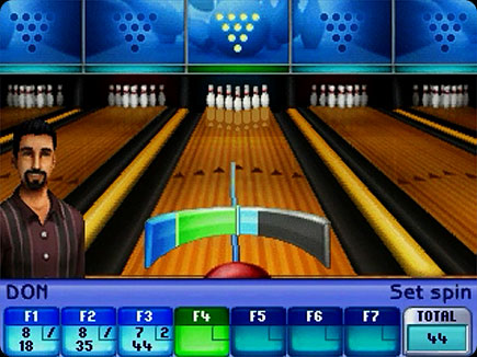 The Sims Bowling gameplay area.