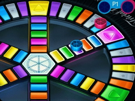 Trivial Pursuit gameplay area.